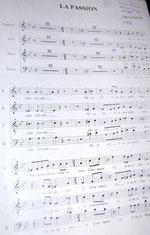 """Extrait du fragment """"La Passion"""" de Gabriel Fauré de 1880"""