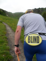 Kurz vor dem Ziel in Malbun: Der blinde Dietmar B.