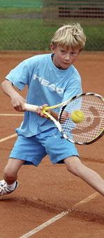 Vergebliche Mühen bei der Aschaffenburger Tennis-Stadtmeisterschaft der Jugend: Für Björn Diekmann vom TV 1860 Aschaffenburg war im Halbfinale der U 10-Junioren Endstation.