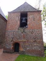 Der Glockenturm der St. Petri Kirche