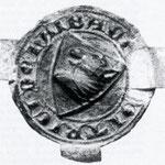 Das Wappen Dietrichs von Haibach 1334