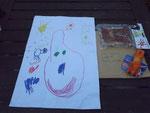 Ein Bild von Anna für Aili und Geschenke für die Welpen
