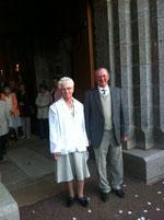 Raymonde et emile Colasse ce samedi à Saint-Pois