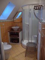 la salle d'eau du gîte de la loge,
