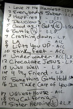 "Original-Setliste ""Don't explain""-Tour 2012 von Beth Hart"