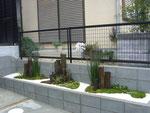 奈良県 大和郡山市 O様邸 造園・植栽工事 施工事例 枯山水風 花壇