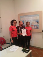 Attestato al nostro Istruttore Daniele Palix, insieme a Daniela Bortolin e Alessandra Antole