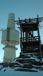 Der Schneeberg 1053m mit seinem Aussichtturm Backöfele