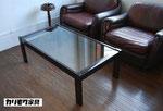 カリモク ビンテージ ガラステーブル