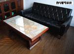 カリモク 大理石調テーブル
