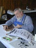 Holz-und Linolschnittkünstler Willibald Zahrl. Foto: zVg