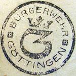 Stempelabdruck der Bürgerwehr. StA Göttingen