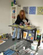 Martina Strigl im Atelier