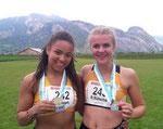 Leonie und Riccarda mit Ostschweiz-Athletics Medaillen