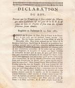 LEX.17.012 Déclaration du Roy (Versailles, 1685) / © Sammlung PRISARD