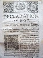 Déclaration du Roy (Grenoble, 1665) / © Sammlung PRISARD