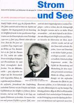 Titelblatt der Zeitschrift «Strom und See»
