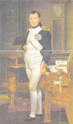 J.L.David: Napoleon in seinem Arbeitszimmer, 1820