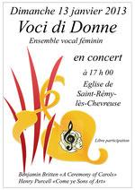 Concert du 13/01/13 - St Rémy-lès-Chevreuse