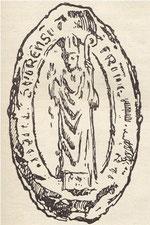 Bischofssiegel von Friedrich von Bolanden (einzige bekannte Abbildung des Ortsgründers)