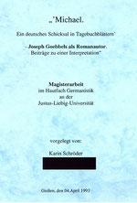 Karin Schröder/™Gigabuch Forschung/Magisterarbeit/1993