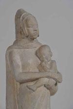 Anna Quinquaud, Maternité Pita, plâtre, musée des beaux-arts de Brest. © ADAGP, Paris, 2014