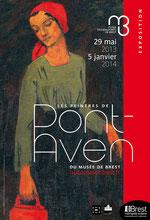 Affiche de l'exposition Les peintres de Pont-Aven du musée de Brest. Direction communication de Brest métropole océane.