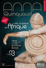 Affiche de l'exposition Anna Quinquaud. Une sculptrice en Afrique. Direction communication de Brest métropole océane. © ADAGP, Paris 2014