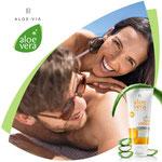 Une protection efficace contre les UVA / UVB et une hydratation intence grâce a l'Aloe vera pour les produits Solaires