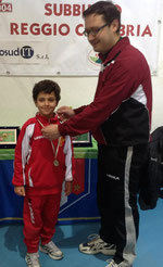 Riccardo Natoli quarto classificato cat. Under 12