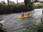 raid sportif en canoë base nautique de picquigny