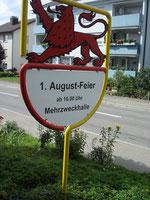 Verkehrsverein Fahrwangen - Ortseingangstafel
