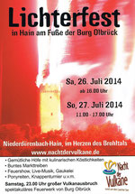 Lichterfest 2014 in Hain