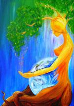 """""""Mutter Gaya"""", gemalt von Susan Liebe"""