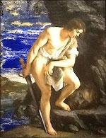 8. Orazio Gentileschi, « David méditant devant la tête de Goliath », v. 1610, Coll. partic. Photo Didier Rykner (source : cliquer)