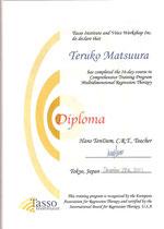 Tasso Institute 卒業認定証
