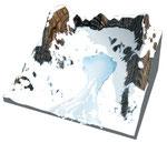 Avalanche de neige humide © Graphies / MEDDE