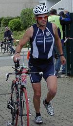 Für Rolf Schröder war die Radstrecke eine Kleinigkeit.