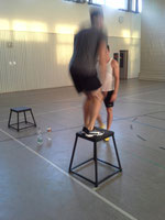 Workout mit der Plyo Box - Box Jumps / Sprünge