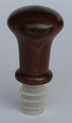 Flaschen-Zierkorken aus Palisanderholz gedrechselt