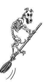 spooky skeleton dog
