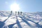 Anstieg zum Gipfel