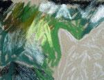 Zeichnung Tiger in Pastell