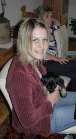 ... Nicole und ihr Blacky ...