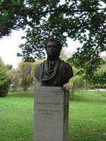 Pouchkine Büste in einem Park des Bois de Boulogne