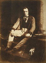 Thomas Duncan, by Robert Adamson and David Octavius Hill, about 1844; medium: calotype print, size: 19.60 x 14.50 cm; from the collection of the National Galleries of Scotland