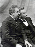 Auguste Lumière (sinistra) e Louis Lumière (destra)
