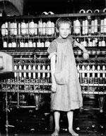 Addie Card, 12 years. Spinner in North Pormal [i.e., Pownal] Cotton Mill. Vt. Girls in mill say she is ten years. She admitted to me she was twelve; that she started during school vacation and new wou