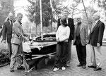 Mitglieder seit der ersten Stunde auf dem Bild rechts in der Gruppe (hinten vlnr.) Karl Treder, Otto Vogt und Andreas Grund.