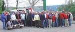 """6 Nationen nahmen an der 38. Regatta """"Wappen von Amecke"""" 2004 teil. Über 100 Teilnehmer waren nach Amecke gekommen und segelten auf dem Haupt-becken des Sorpesees um das """"Wappen"""" aus Amecke."""